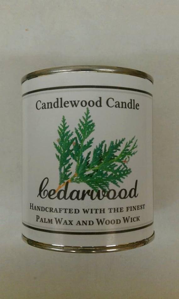 CEDARWOOD - Genuine Cedarwood Wood Wick Candle -  Pure essential oil 16 oz.