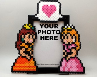 Picture Frame  - Princess Daisy and Princess Peach Couples and/or Best Friend Picture Frame