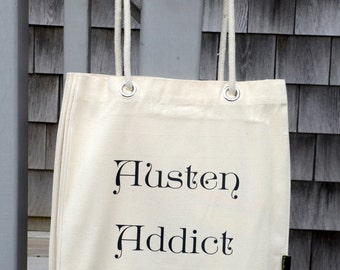 Austen Addict Literary Tote for Books and Everything Else