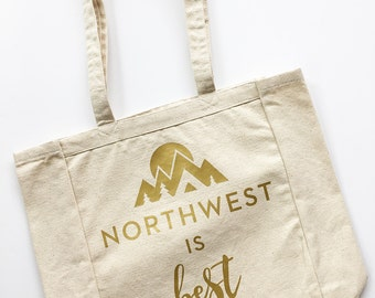 Northwest is Best // Canvas Tote