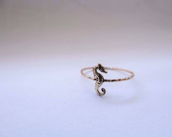 Seahorse Charm Ring