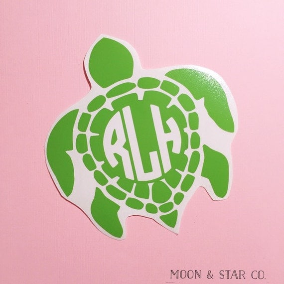 Download Sea Turtle Monogram Decal Sea Turtle Decal Turtle Decal