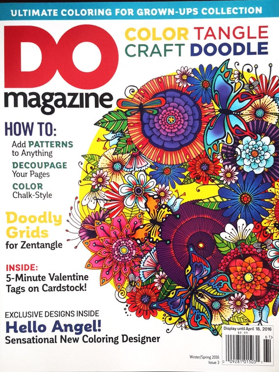 """Sale! DO magazine winter spring 2016 ultimate coloring for adults  - edition a how to """"do"""" magazine for color, tangle, craft and doodlers"""