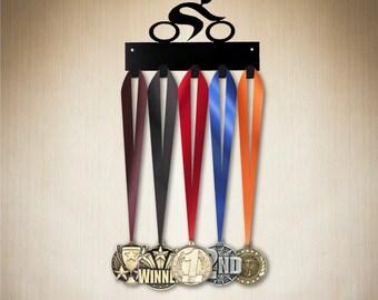 Medal Holder - Cycling, Medal Hanger, Medal Display , medal rack, medal hooks. Visit www.sporthooks.com