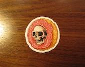 Skull Donut Transparent Sticker, 100% Waterproof Vinyl Transparent Sticker, Pop Culture Transparent Sticker