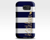 Samsung Galaxy S6 Case , Monogram Galaxy S7 Case , Samsung Galaxy S5 Case , Navy Blue Stripe Samsung Galaxy Case , Samsung Galaxy S7 Case