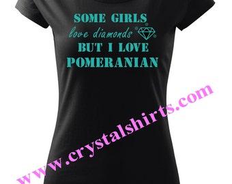 Pomeranian, Pom diamond T-shirt
