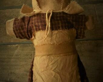 Primitive Prairie Stump Doll Sitter