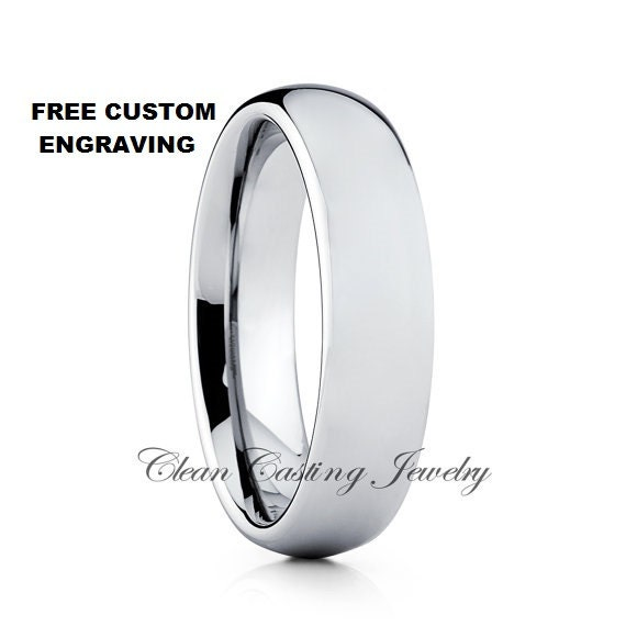 Unique Tungsten Wedding Band,Dome Tungsten Ring,Anniversary Ring,Engagement Band,Tungsten Wedding Ring,Comfort Fit Ring,Men's and Women Ring