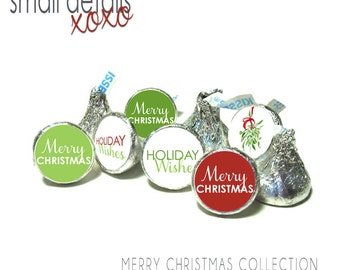 CHRISTMAS stickers ~ for Hershey's Kisses® Chocolate