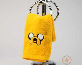 "Adventure Time ""Jake"" Inspired - Embroidered Hand Towel"