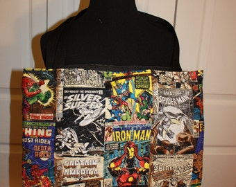 Marvel Comic Book Covers Tote Bag