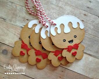 Christmas Gift Tags, Gingerbread Man Gift tags, Gingerbread Tags, christmas Tag, Christmas gift wrap, Christmas treat tags, Holiday tags