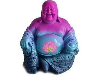 Laughing Buddha Statue // Meditation // Zen Garden // Desk Accessory // Lotus // Feng Shui // Yoga // Boho Decor // Sacred Space // Altar