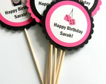 6 50s Theme Centerpieces, Sock Hop, Party Centerpieces, 50s Birthday, Rock N