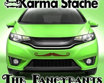 "24"" Car Mustache Vinyl Decal Sticker - Style; Fancypants - Color; Brown  -  Karma Stache: Your #1 Source for Car Mustaches!"