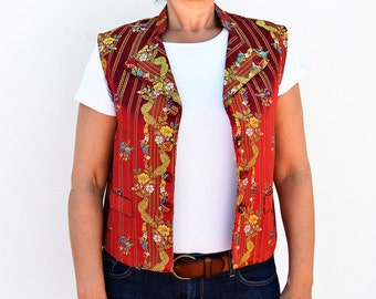 handmade vest made in Spain 100% rayon