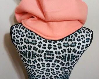 Orange Fox Cowl Hood - Ready Made