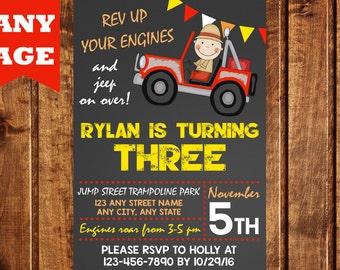 Jeep Birthday Invitation, Jeep Party, Jeep Invitation, Printable, Boy Birthday Invitation, Off Road Invitation, Truck Birthday Invitation