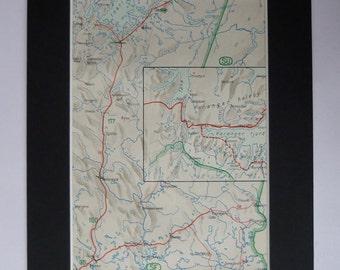 1930s Antique Map of Lapland, Finland Decor Available Framed Norway Art Varangerfjord Gift, Sodankyla Print, Finnmark Print, Varangerhalvøya