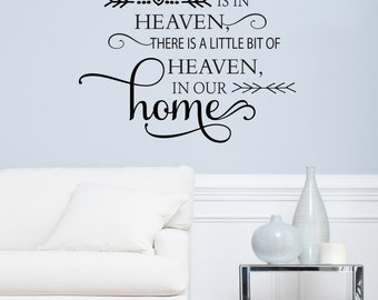 Because Someone We Love Is In Heaven There Is A Little Bit Of Heaven In Our Home Wall Decal - Vinyl Quote - Decals