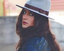 Fedora felt hat for women - Gray felt hat - Winter hat for women - Women hats - Classic fedora hat