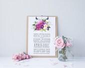 Watercolor Boho Wedding Invitation Suite DEPOSIT - DIY, Chic, Modern, Country, Calligraphy, Invite Kit, Printable (Wedding Design #61)