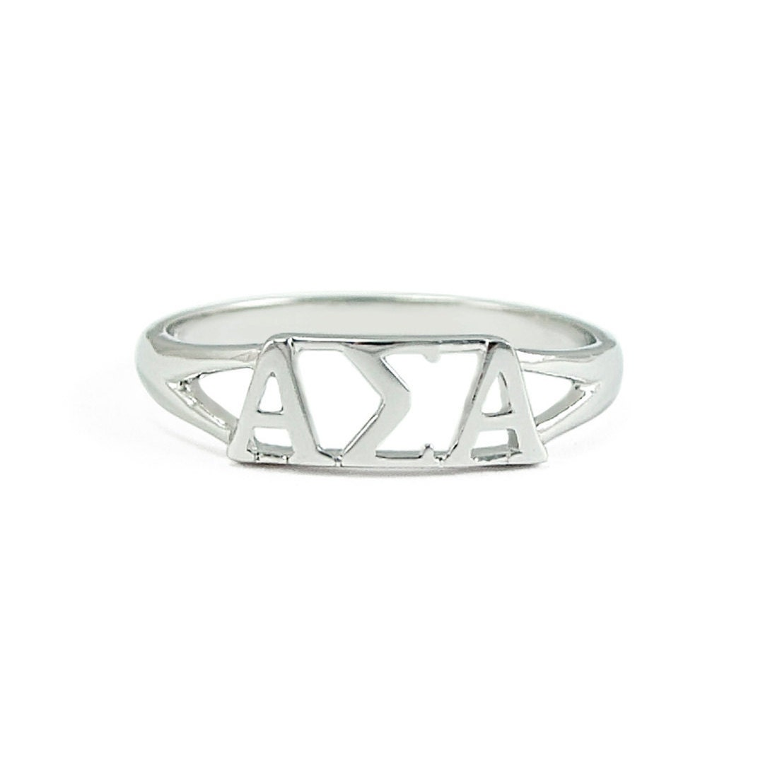 alpha sigma alpha sterling silver ring sorority jewelry