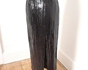 Long sequin skirt | Etsy
