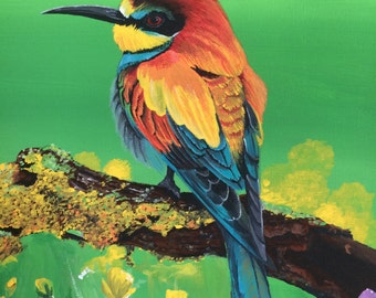 Canvas Painting European Bee Eater