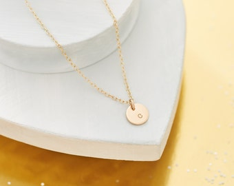 solid gold initial necklace single initial necklace 9ct gold personalised initial necklace layering necklace tiny initial pendant