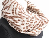 Infinity Scarf - Animal Print Scarf - Tiger Print Scarf - Gift For Her - Fashion Scarf - Lightweight Scarf