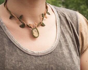 Macrame necklace, boho macrame necklace, bohemian necklace, fantasy necklace, boho necklace, elven necklace, elven macrame necklace