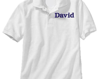 Monogrammed Polo Shirt Boys Knit Uniform Monogram Boys