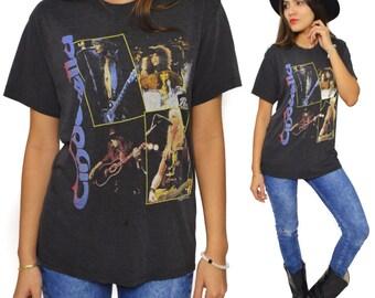Vintage 80s Cinderella Long Cold Winter Tour 1988-89 Glam Metal T Shirt