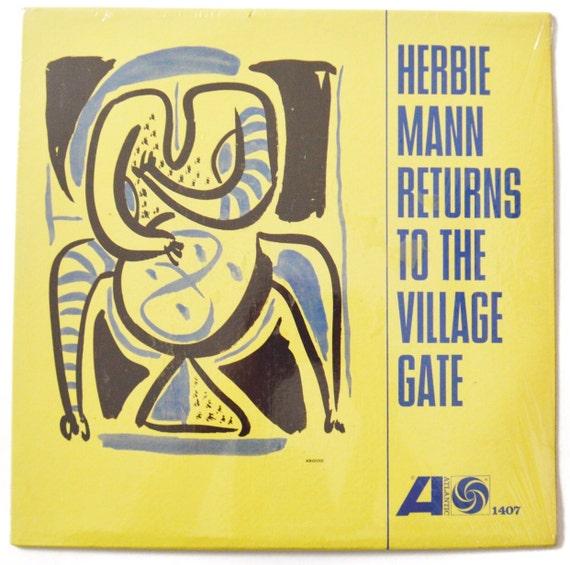 Vintage 60s Herbie Mann Returns to the Village Gate Mono Album Record Vinyl LP