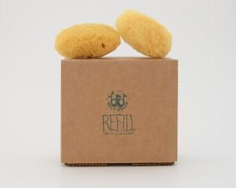 2 Sea Sponges: Refill for Kit