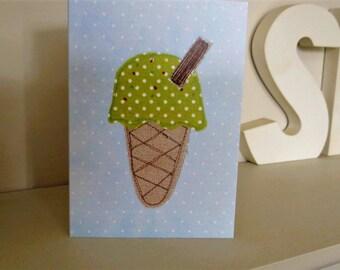 Pistachio Ice Cream Greeting Card