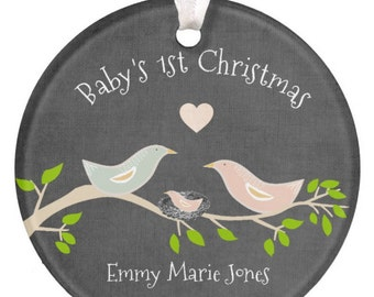 Personalized Baby Christmas Ornament, Baby Gift, 1st Christmas Ornament, Christmas Ornament, Baby Feet Ornament, Baby Shower Gift, RyElle