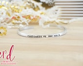 Skinny Custom Hand Stamped Cuff - Personalized Bracelet - Stackable Bracelets - Personalized Bracelet - Hand Stamped Silver Cuff Bracelet