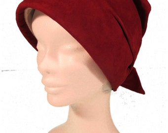 Rust Faux Suede Hat