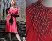 RESERVED: 1940's Rhinestone Showgirl Dress