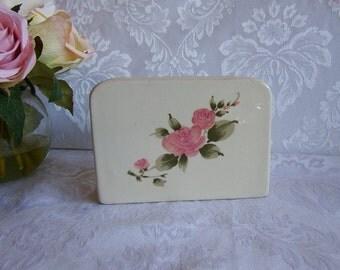 Vintage Napkin Holder Roseland pattern by Gibson Designs
