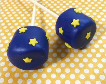 12 Starry Sky Marshmallow Pops for Twinkle Little Star, Le Petit Prince, Little Prince, Baby Shower, First Birthday, Outer Space, Astronaut