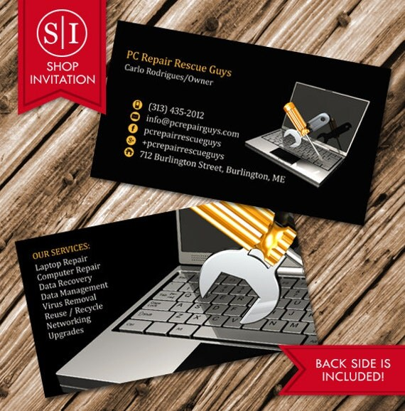 Computer Repair Business Card (Free Shipping) from ShopInvitation ...