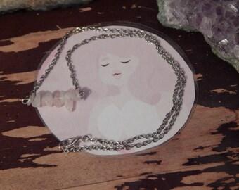 Rose Quartz Print + Rose Quartz Necklace