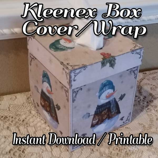 Christmas Kleenex Box Cover