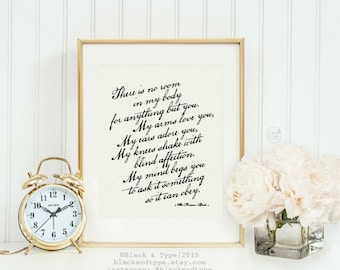 Love You, Adore You    typography print, the princess bride quote, the princess bride print, black and white art, westley, buttercup