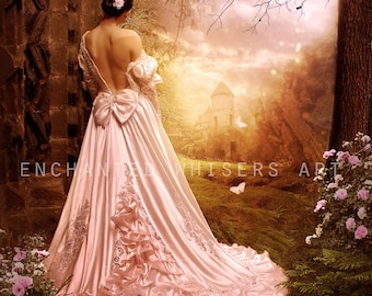 fantasy Princess fairytale art print by Enchanted Whispers