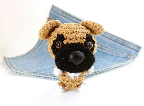 Amigurumi Boxer Dog : Amigurumi Boxer crochet Boxer Dog plushie. Stuffed by ...
